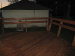 Deck, refinished
